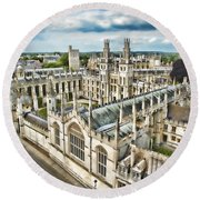 All Souls College - Oxford Round Beach Towel
