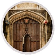 Oxford, England - All Souls Gate Round Beach Towel