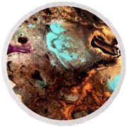 All That Glitters Abstract Round Beach Towel