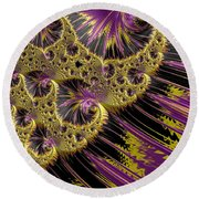 All That Glitters Round Beach Towel