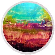 All That Glitters Isnt Gold Round Beach Towel