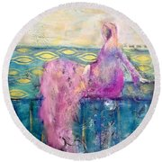 All That Moves Her Round Beach Towel