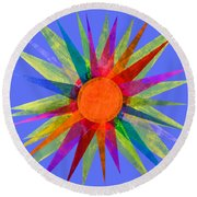All The Colors In The Sun Round Beach Towel