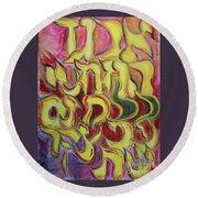 All The Letters  Ab1 Round Beach Towel