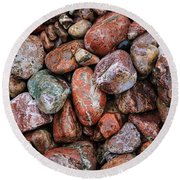 All The Stones Round Beach Towel