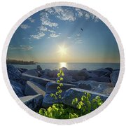 All Things Are Possible Round Beach Towel
