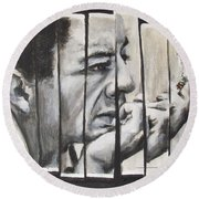 All Together Johnny Cash Round Beach Towel