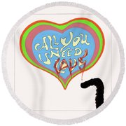 All You Need Is Cats Round Beach Towel