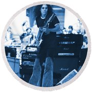 Allen Collins In Blue Oakland 1975 Round Beach Towel