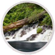 Allen Springs On The Metolius River Round Beach Towel