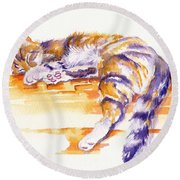 Alley Cat Round Beach Towel
