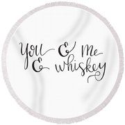 Allie Nicole's Whiskey Round Beach Towel
