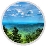 Alligator Back Overlook Round Beach Towel by Dale R Carlson