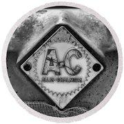 Allis-chalmers Logo - Bw Round Beach Towel