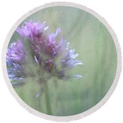 Allium Impressionism Round Beach Towel
