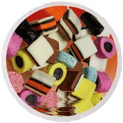 Allsorts Sweets Round Beach Towel