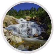 Alluvial Sands Water Fall Round Beach Towel