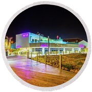 Round Beach Towel featuring the photograph Alma At Night by Gary Gillette