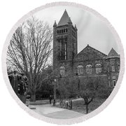 Alma Mater And Law Library University Of Illinois  Round Beach Towel