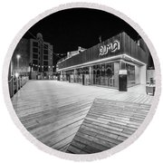 Round Beach Towel featuring the photograph Alma Restaurant by Gary Gillette