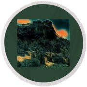 Almeria Nature Spain  Round Beach Towel by Colette V Hera Guggenheim