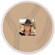 Almeria Spain August 2016 Round Beach Towel by Colette V Hera Guggenheim