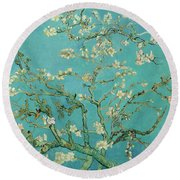 Almond Blossom, 1890 Round Beach Towel