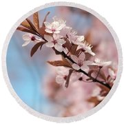 Almond Blossom Round Beach Towel