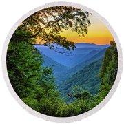 Almost Heaven - West Virginia 3 Round Beach Towel