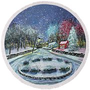 Almost Home Round Beach Towel by Rita Brown