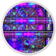 Round Beach Towel featuring the digital art Almost Home by Robert Orinski
