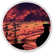 Almost Home Round Beach Towel by Shane Bechler
