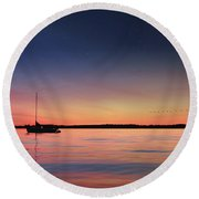 Round Beach Towel featuring the photograph Almost Paradise by Lori Deiter