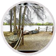 Almost Spring At Lafayette Lake Round Beach Towel