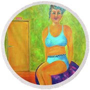Art Something To Talk About Round Beach Towel