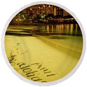 Ami Aloha Aulani Disney Resort And Spa Hawaii Collection Art Round Beach Towel