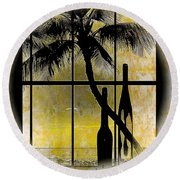 Round Beach Towel featuring the photograph Aloha,from The Island by Athala Carole Bruckner