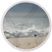 Alone - Jersey Shore Round Beach Towel
