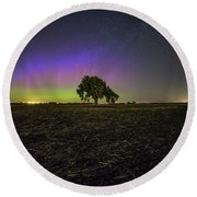 Round Beach Towel featuring the photograph Alone by Aaron J Groen