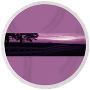 Alone Round Beach Towel
