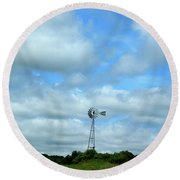 Alone In Thought Round Beach Towel