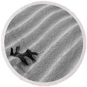 Alone Round Beach Towel by Kathi Mirto