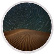 Round Beach Towel featuring the photograph Alone On The Dunes by Darren White