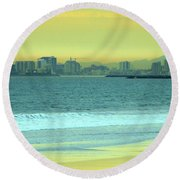 Alone Time Round Beach Towel