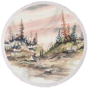 Alone Together Round Beach Towel by Sam Sidders