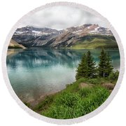 Along Icefields Parkway Round Beach Towel
