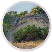 Along Jalama Creek Round Beach Towel