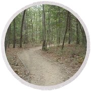 Along Our Winding Paths Round Beach Towel