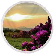 Along The Blue Ridge Round Beach Towel
