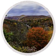 Along The Blue Ridge Parkway Round Beach Towel